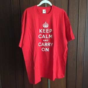 Tops - Keep calm tee M